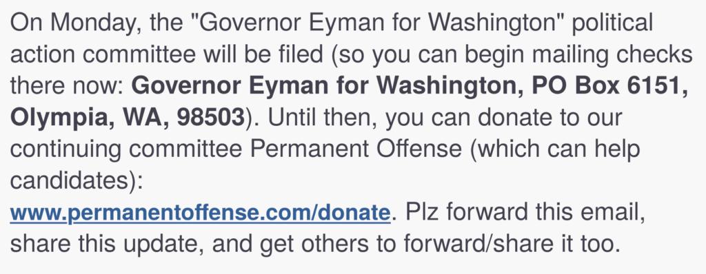 Screenshot of Tim Eyman email